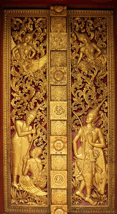 Entry Doors, Wat Mahathat, Luang Prabang, Laos