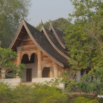 Wat Sip, Luang Prabang, Laos sits overlooking the Nam Khan River