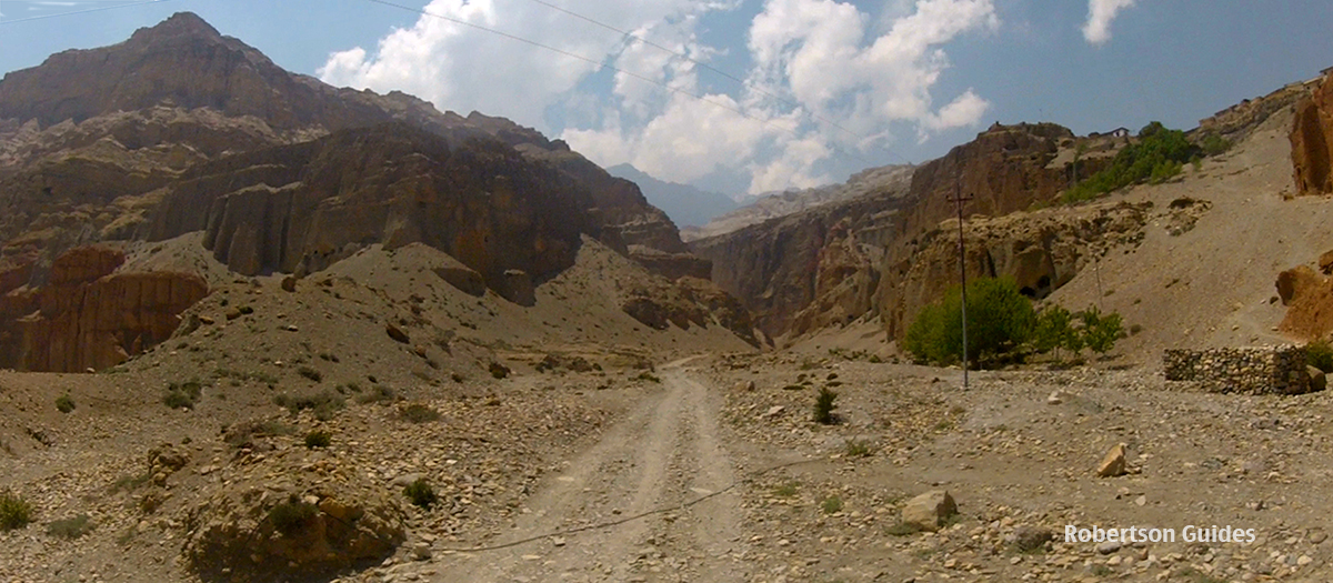 The road to Lo Manthang up the Kali Gandaki, Nepal