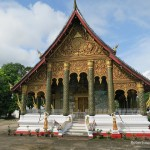 Wat Mahathat is one of the best maintained temples in Luang Prabang, Laos