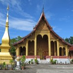 Wat Sene, Luang Prabang, Laos. Located on the main street through the old city